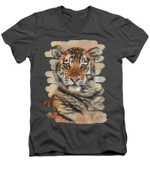 Portrait Of A Tiger Cub Men's V-Neck T-Shirt