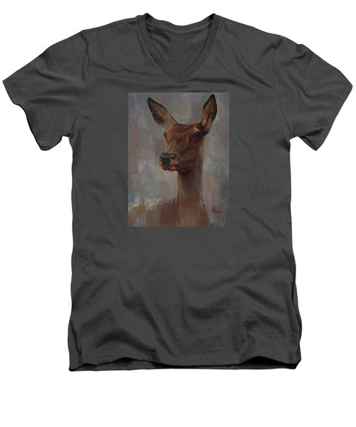 Portrait Of A Young Doe Men's V-Neck T-Shirt