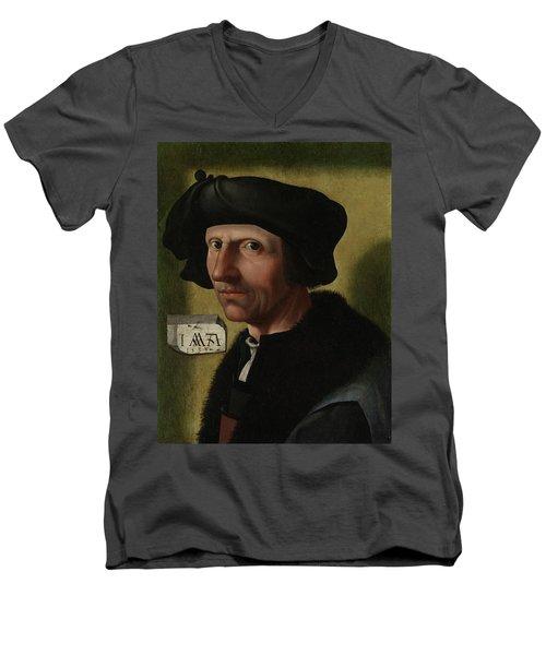 Portrait Of Jacob Cornelisz Van Oostsanen Men's V-Neck T-Shirt