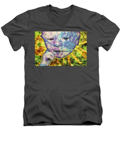 Portrait Of The Artist As A Young Baby Men's V-Neck T-Shirt