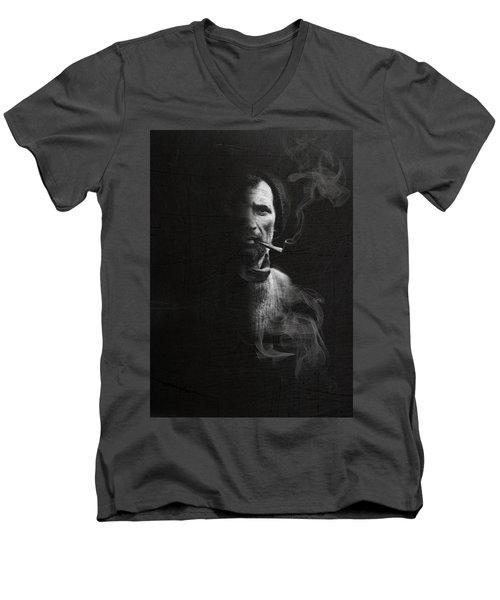 Portrait Of Tom Crean Antarctic Explorer Men's V-Neck T-Shirt