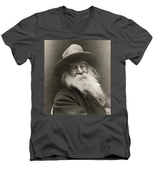 Portrait Of Walt Whitman Men's V-Neck T-Shirt