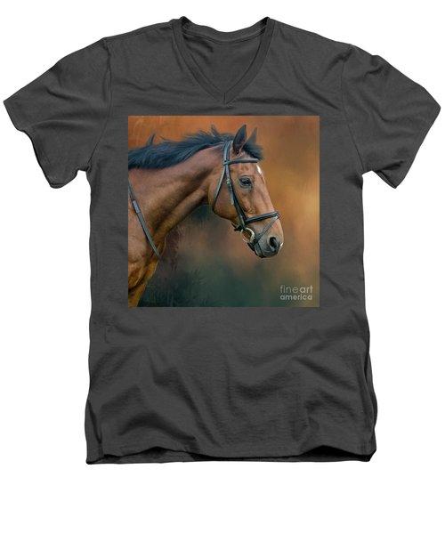 Portrait Of Zi Men's V-Neck T-Shirt
