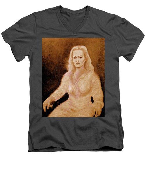 Portrait Woman In Bright Dress Men's V-Neck T-Shirt