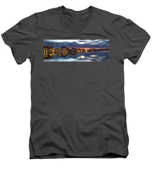 Portsmouth Waterfront Panorama Men's V-Neck T-Shirt