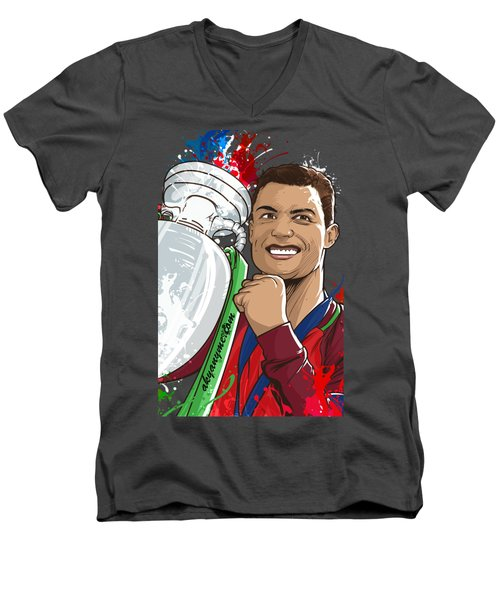 Portugal Campeoes Da Europa Men's V-Neck T-Shirt by Akyanyme