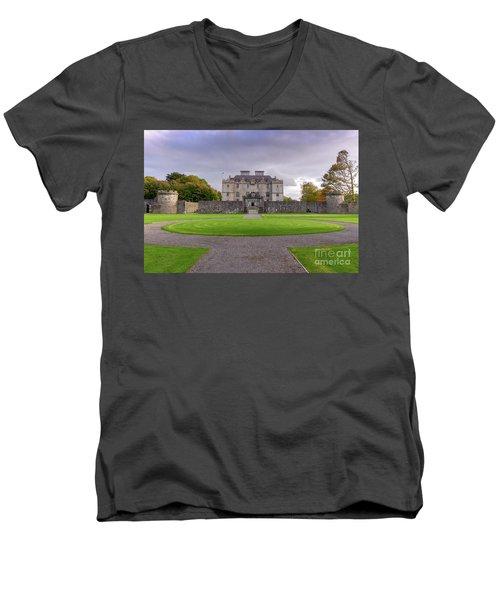 Portumna House  Men's V-Neck T-Shirt by Juergen Klust