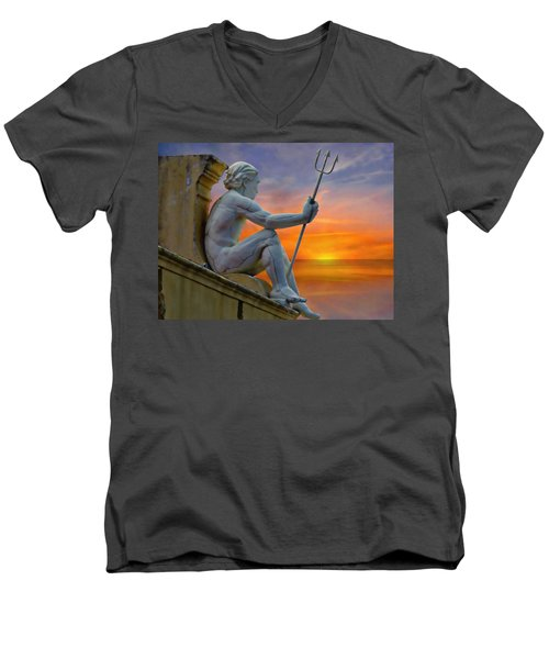 Poseidon - God Of The Sea Men's V-Neck T-Shirt