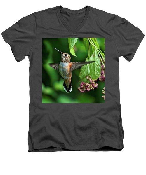 Posing Men's V-Neck T-Shirt by Sheldon Bilsker