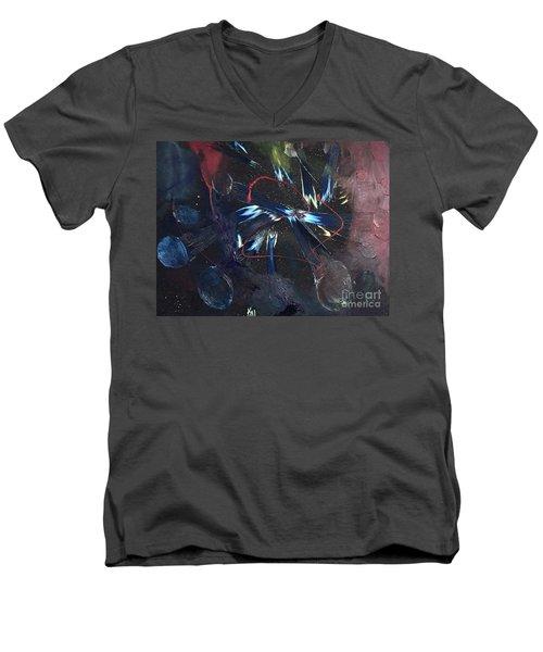 Positive Energy Men's V-Neck T-Shirt by Karen Nicholson