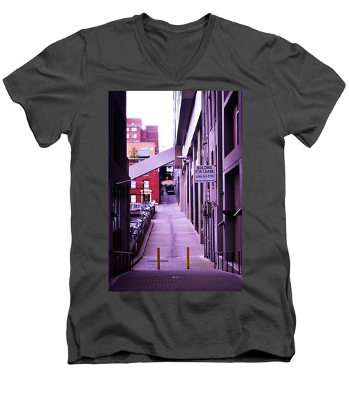 Post Alley, Seattle Men's V-Neck T-Shirt