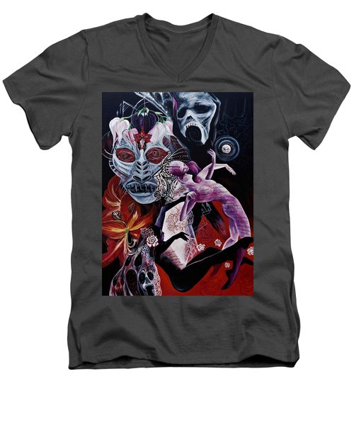 Postcard From Death Men's V-Neck T-Shirt by Yelena Tylkina