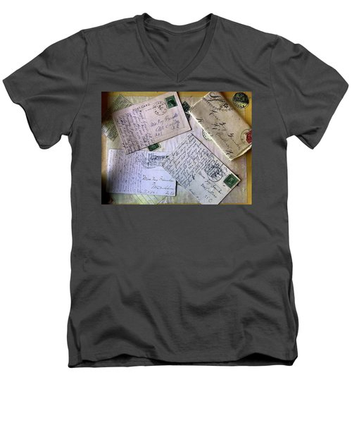 Postcards And Proposals Men's V-Neck T-Shirt