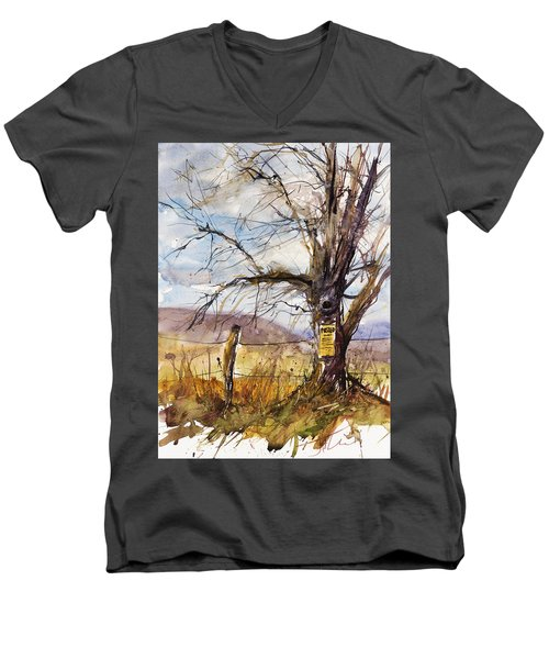 Posted Men's V-Neck T-Shirt by Judith Levins