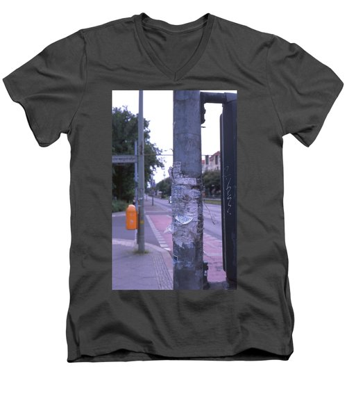 Posts And Towers In Berlin Men's V-Neck T-Shirt