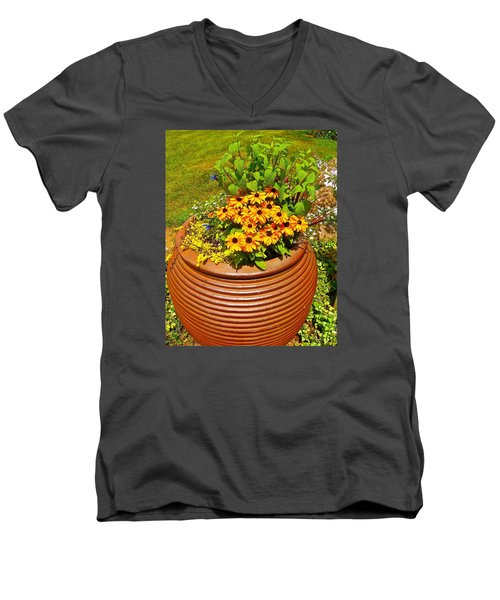 Pot O' Gold Men's V-Neck T-Shirt by Randy Rosenberger