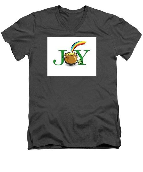 Pot Of Gold Joy Men's V-Neck T-Shirt by Greg Slocum