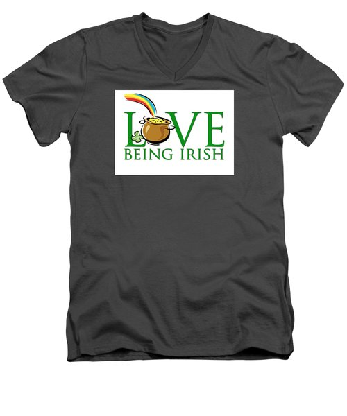 Pot Of Gold Love Being Irish Men's V-Neck T-Shirt