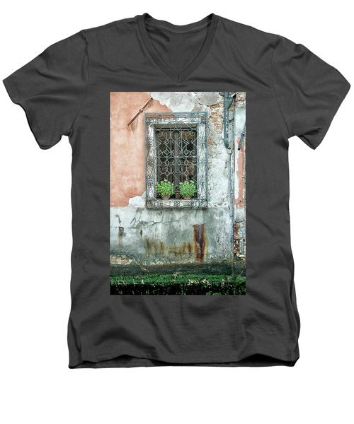 Pot Plant Window Men's V-Neck T-Shirt