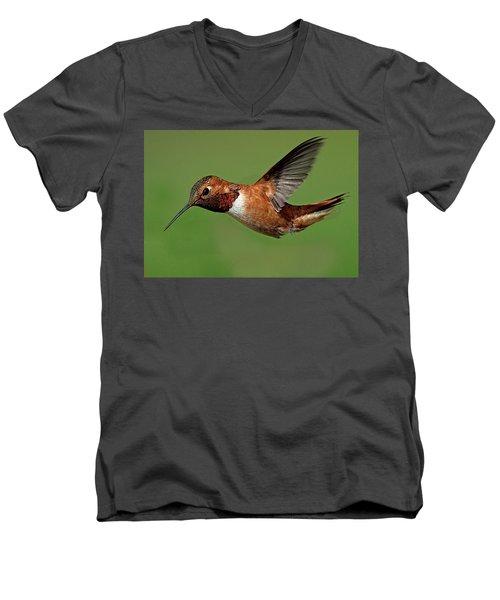 Potrait Men's V-Neck T-Shirt by Sheldon Bilsker