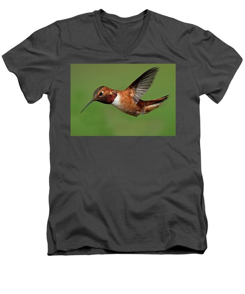 Potrait Men's V-Neck T-Shirt