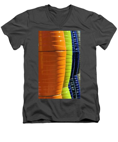 Pots Men's V-Neck T-Shirt by Josephine Buschman