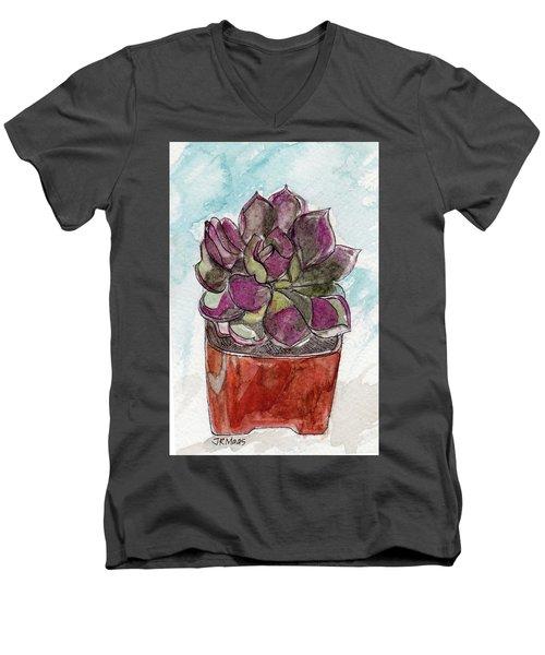 Potted Cactus Men's V-Neck T-Shirt