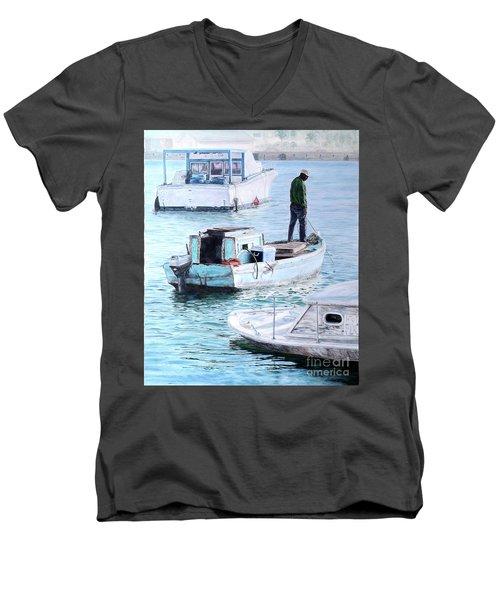 Potter's Cay Blues Men's V-Neck T-Shirt