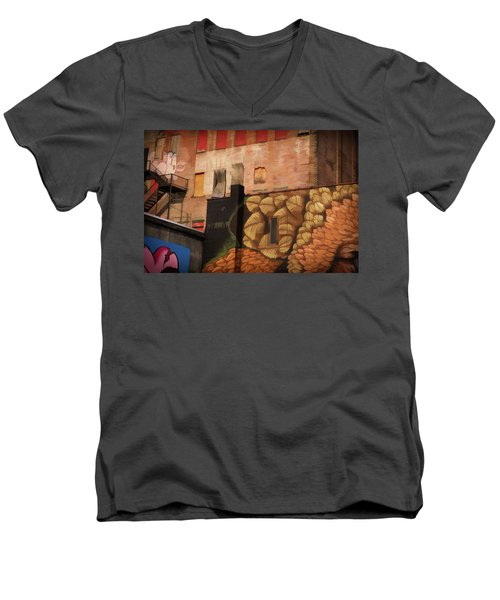Poughkeepsie Street Art Men's V-Neck T-Shirt