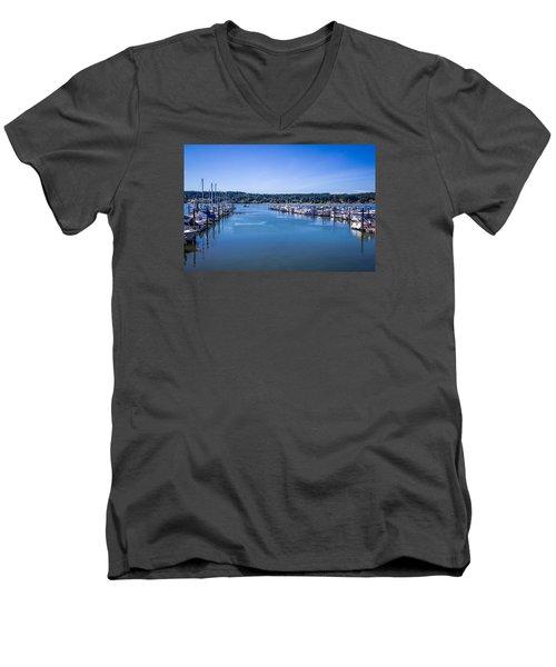 Poulsbo Marina Men's V-Neck T-Shirt