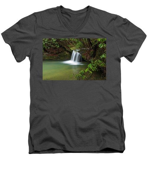 Pounder Branch Falls # 2 Men's V-Neck T-Shirt
