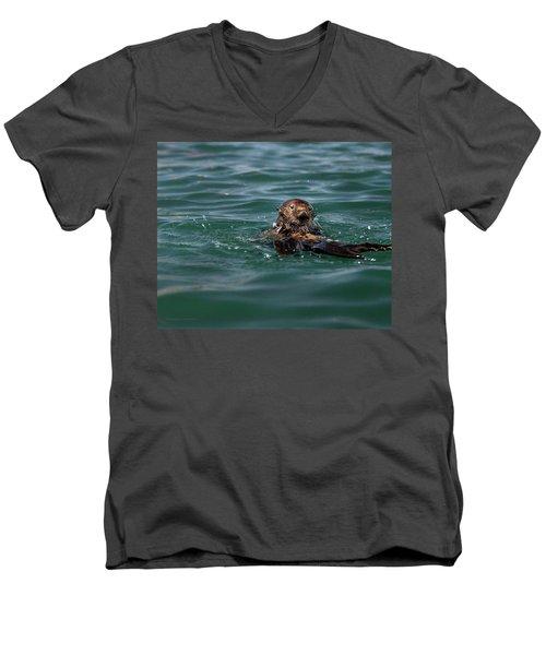 Pounding Muscle Men's V-Neck T-Shirt