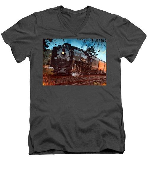 Pounding Up The Texas Grade Men's V-Neck T-Shirt