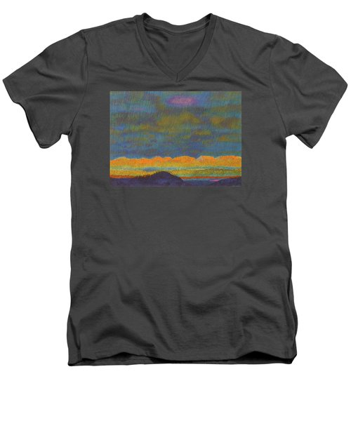 Powder River Reverie, 1 Men's V-Neck T-Shirt