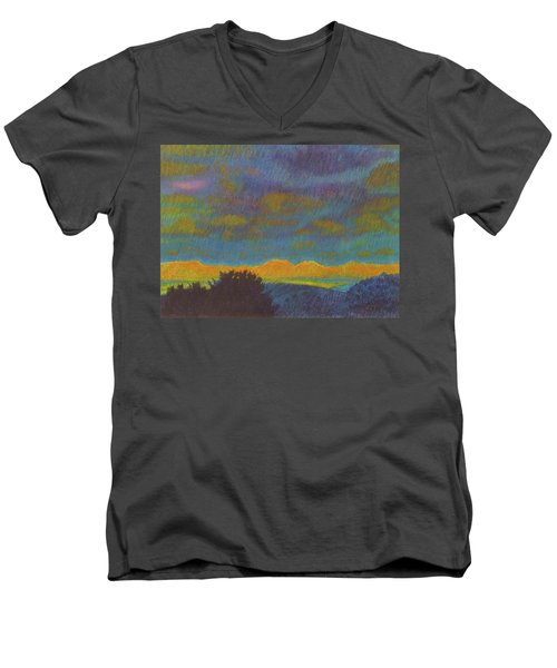 Powder River Reverie, 2 Men's V-Neck T-Shirt