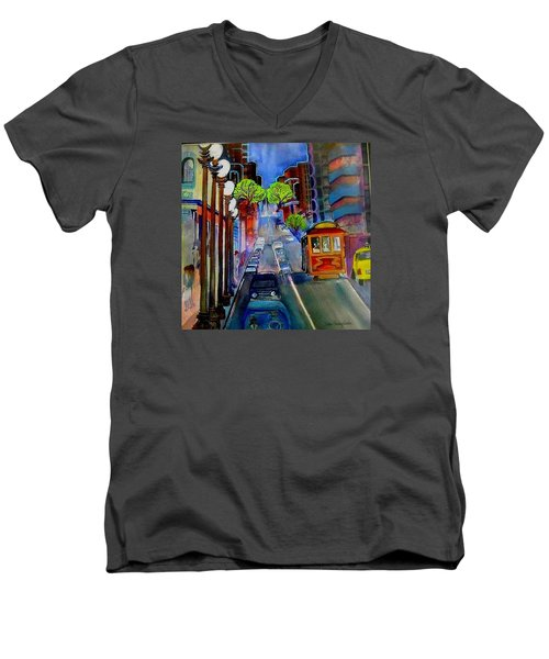 Powell  Street Men's V-Neck T-Shirt