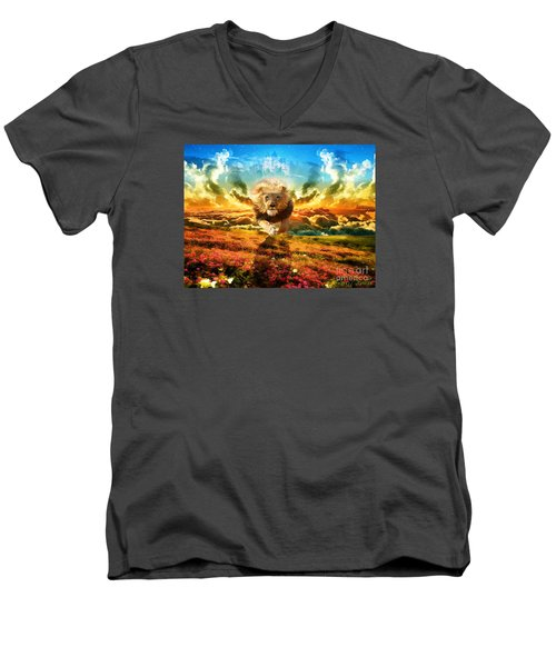 Power And Glory Men's V-Neck T-Shirt