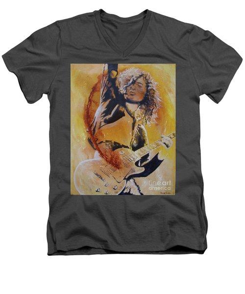 Power Chord Men's V-Neck T-Shirt by Stuart Engel