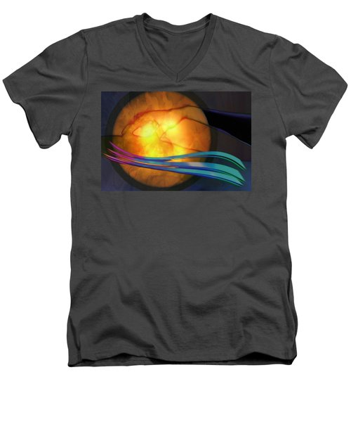 Power Of Touch Men's V-Neck T-Shirt by Ed Hall
