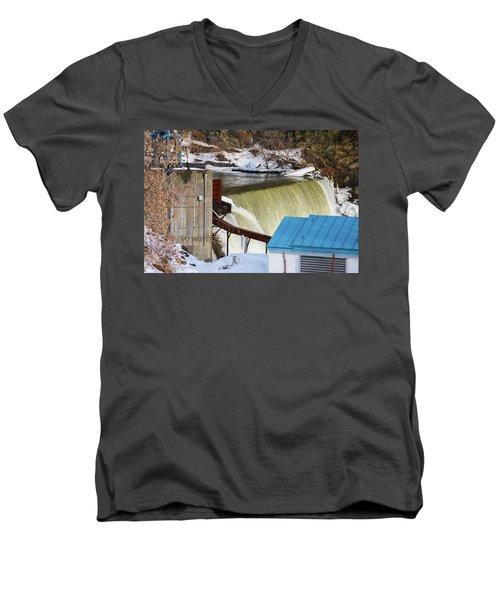 Power Station Falls On Black River Two Men's V-Neck T-Shirt