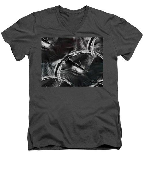 Powers Of Dark Men's V-Neck T-Shirt by Yul Olaivar