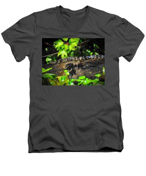 Practicing My Alligatorness Men's V-Neck T-Shirt