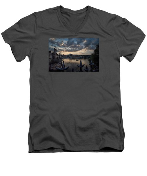 Prague Castle Men's V-Neck T-Shirt