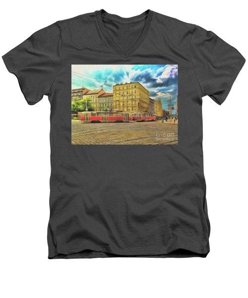 Prague Men's V-Neck T-Shirt