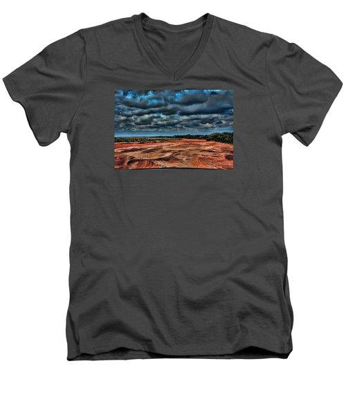 Prairie Dog Town Fork Red River Men's V-Neck T-Shirt