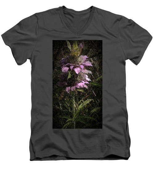 Prairie Weed Flower Men's V-Neck T-Shirt by Donna G Smith