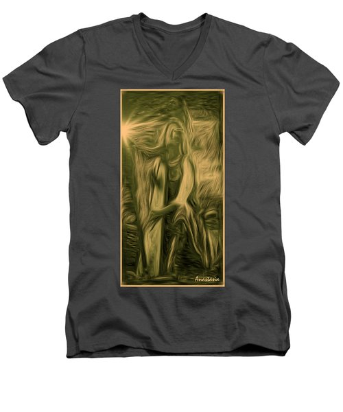 Praise Him With The Harp I Men's V-Neck T-Shirt by Anastasia Savage Ealy