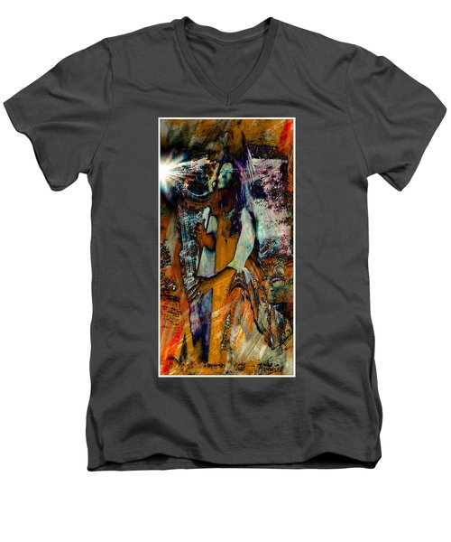 Praise Him With The Harp IIi Men's V-Neck T-Shirt by Anastasia Savage Ealy