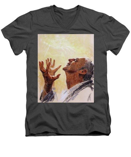 Praise. I Will Praise Him  Men's V-Neck T-Shirt