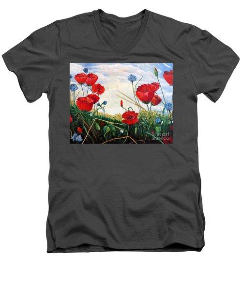 Prayer And Praise Men's V-Neck T-Shirt